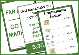 Post office signs as gaeilge
